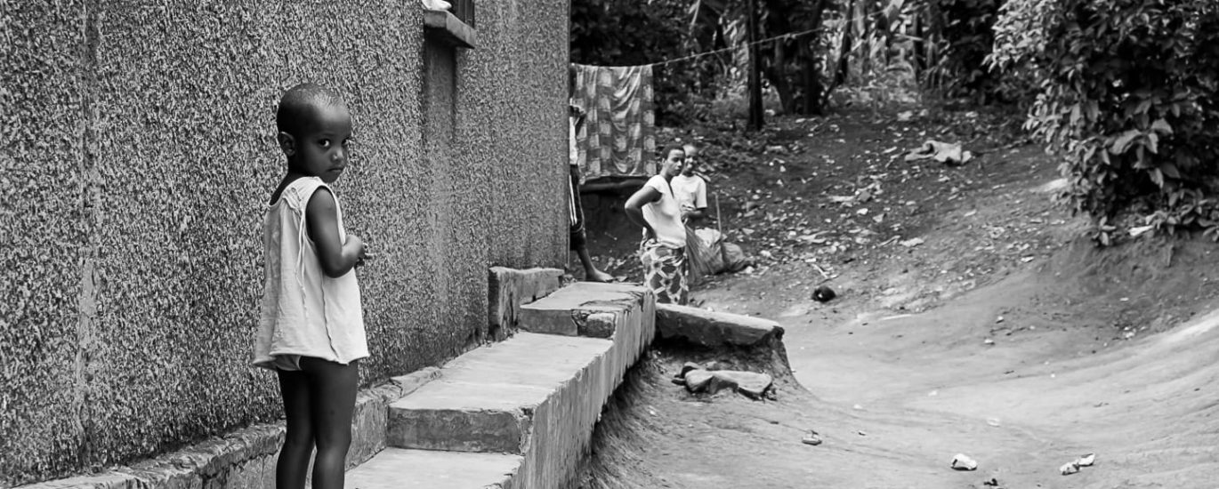 A child in the slums where we had our photography workshop @Amina Mohamed Photography