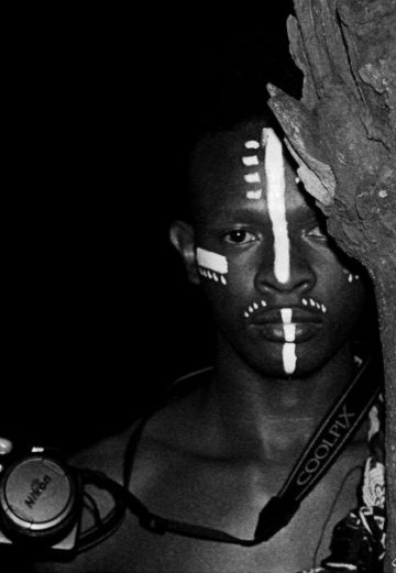 night shoot in tribal paint
