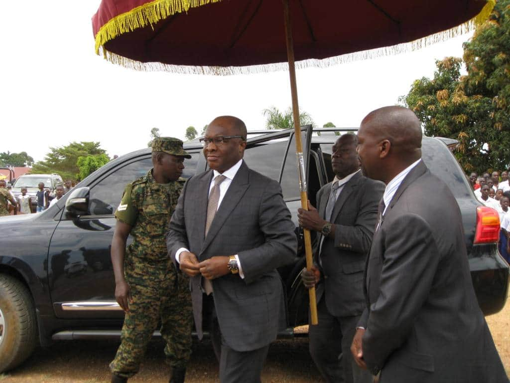The king of Buganda Ronald Muwenda Mutebi as soon as he had just arrived at the function.2